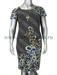 Платье DZYN - 11270-1 B большие размеры Работаем с регионами. Скидки на доставку.